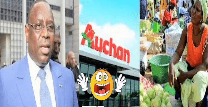 Macky Sall stoppe toute nouvelle ouverture de magasin Auchan. Macky Sall a exhorté au Premier ministre Abdalah Boune Dione et au ministre du